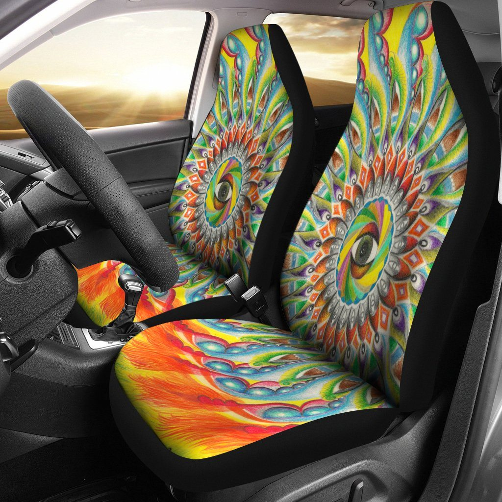 Eye Mandala Car Seat Covers