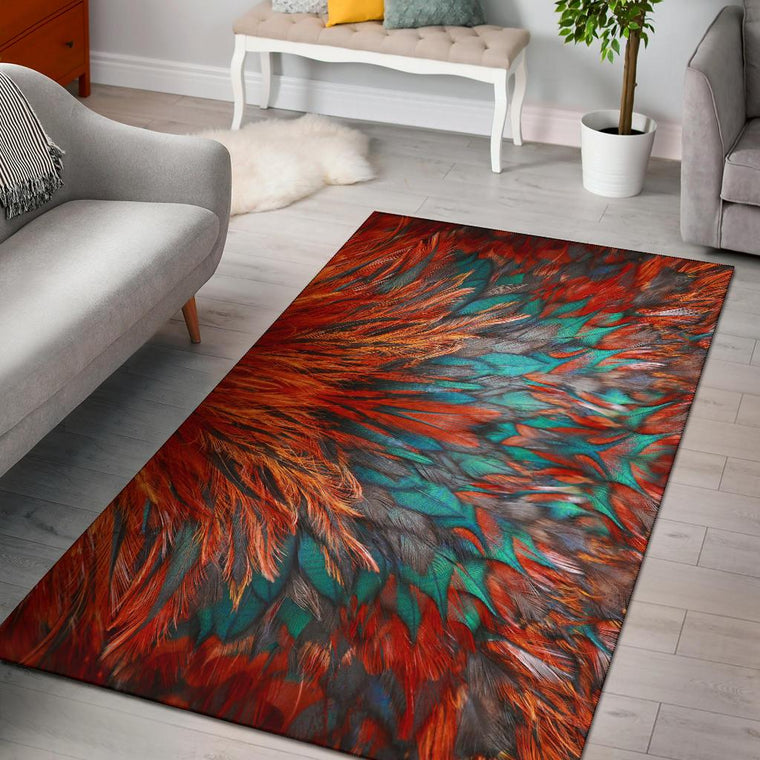 Flame Feathers Area Rug