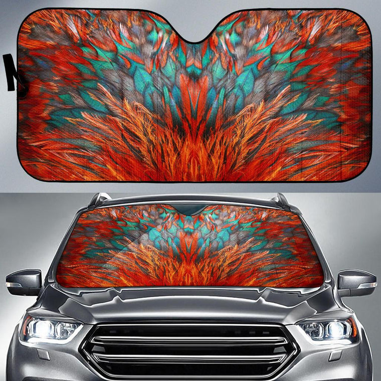 Flame Feathers Auto Sun Shade