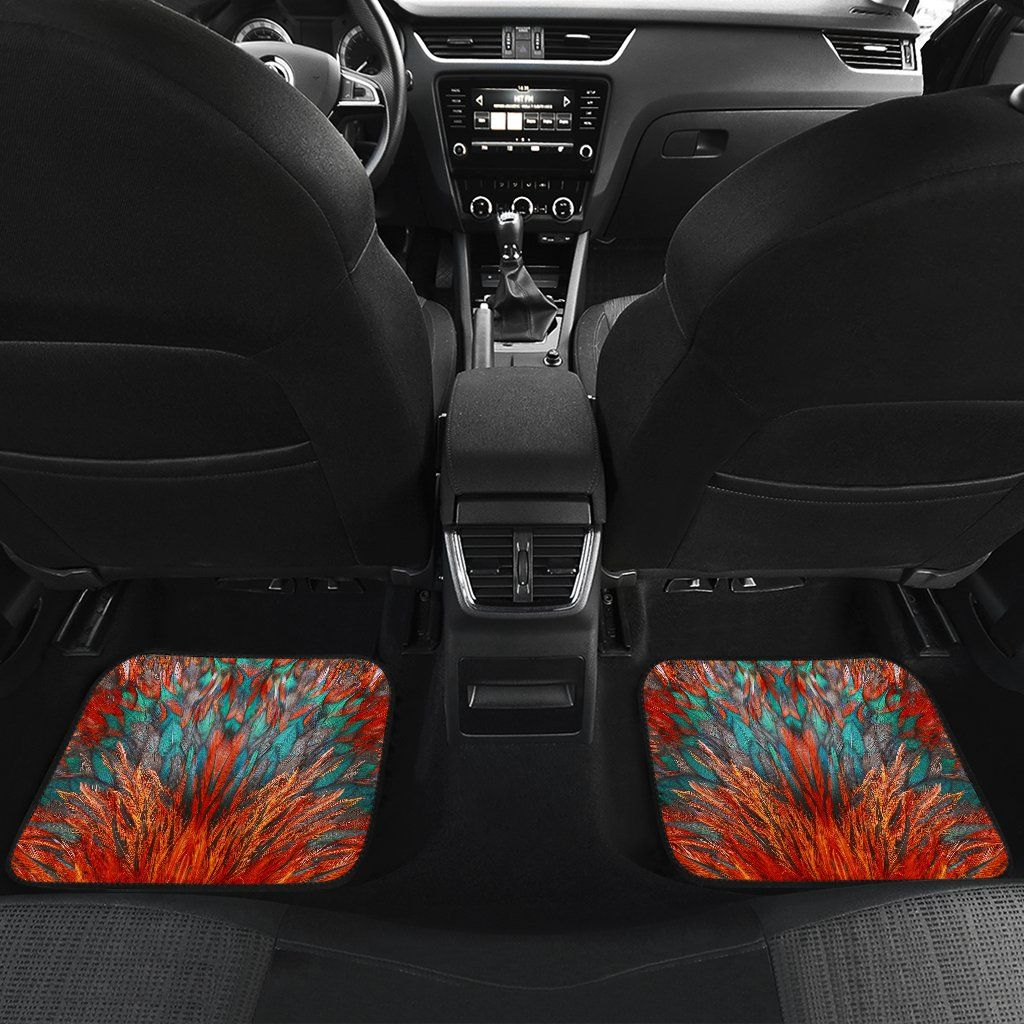 Flame Feathers Car Floor Mats