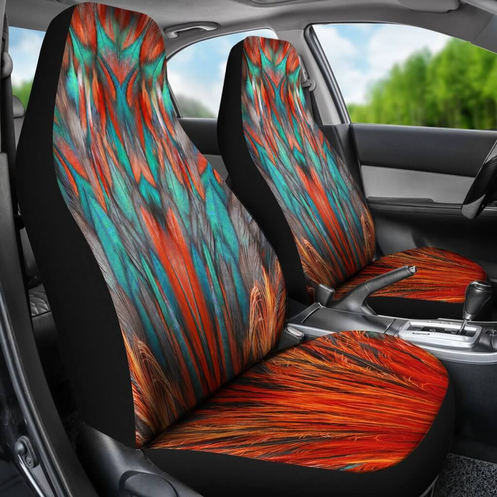 Flame Feathers Car Seat Covers
