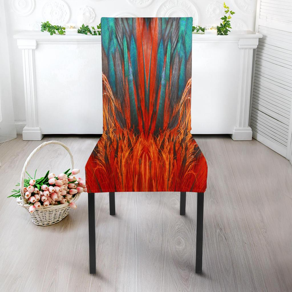 Flame Feathers Dining Chair Slipcover Your Amazing Design