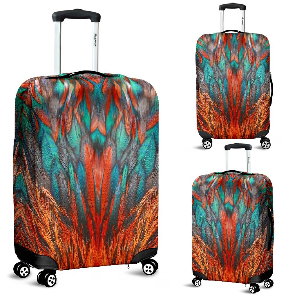 Flame Feathers Luggage Covers