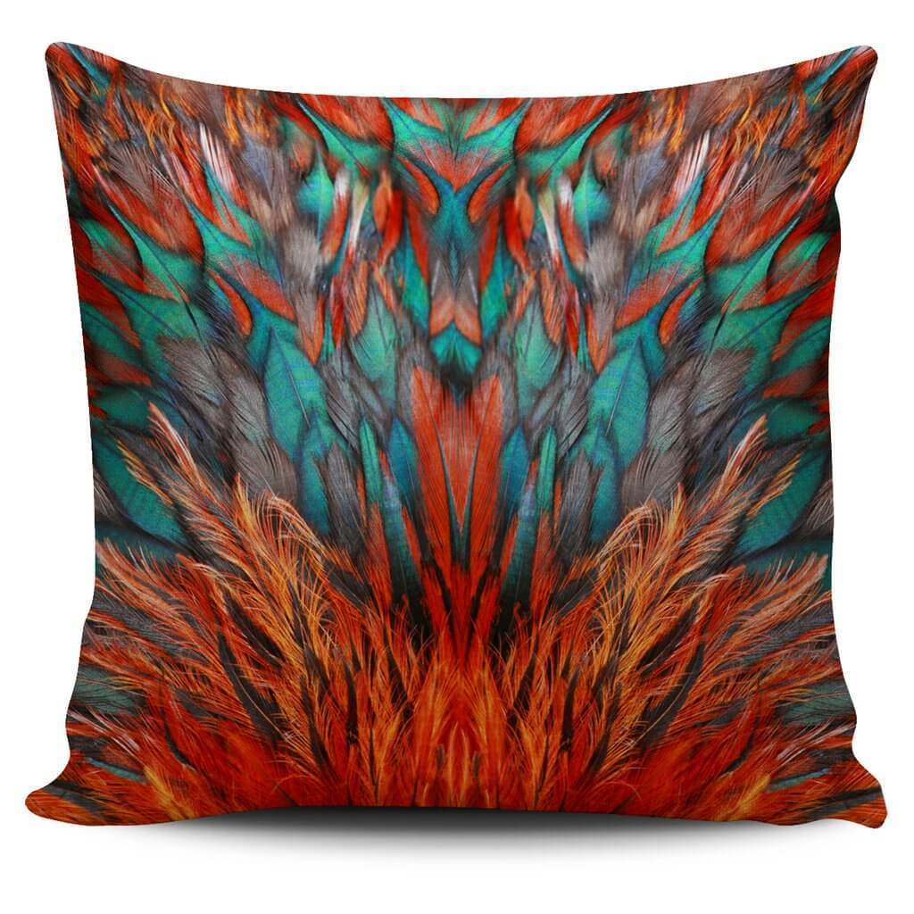 Flame Feathers Pillow Cover