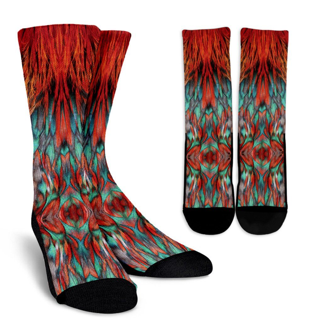 Flame Feathers Socks