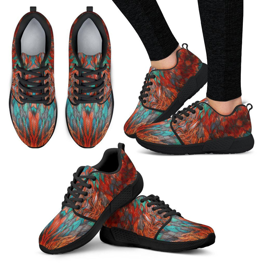Flame Feathers Women's Athletic Sneakers