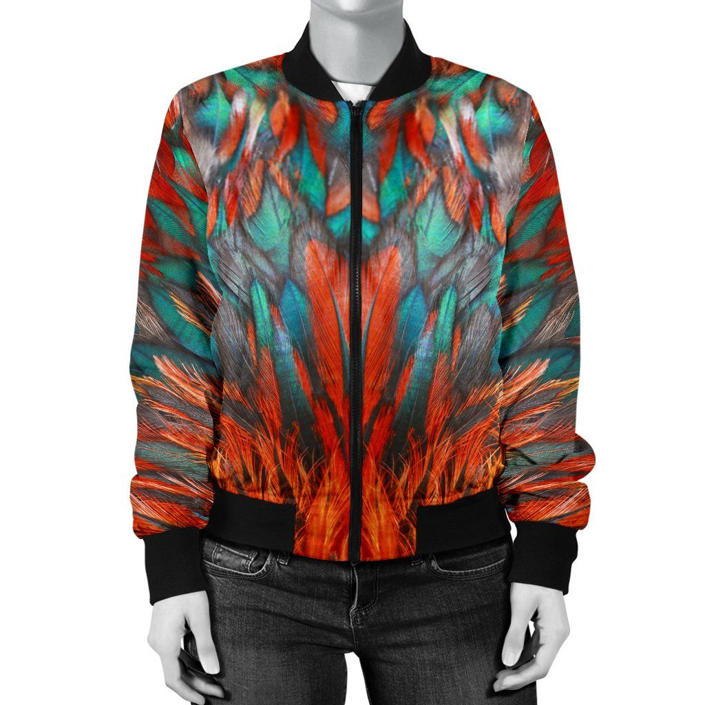 Flame Feathers Women's Bomber Jacket