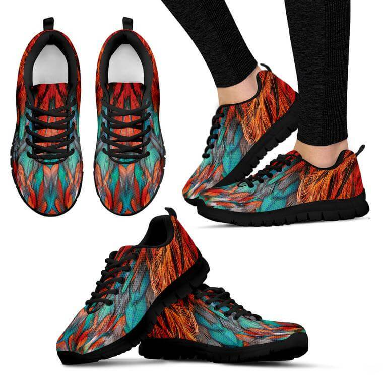 Flame Feathers Women's Sneakers