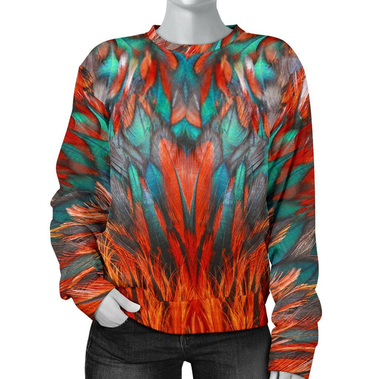 Flame Feathers Women's Sweater