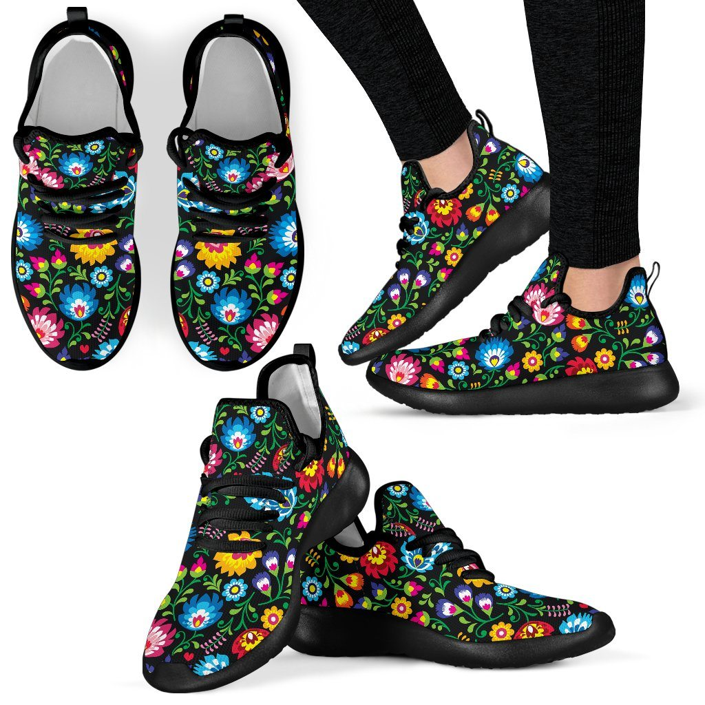 Floral Day Mesh Knit Sneakers