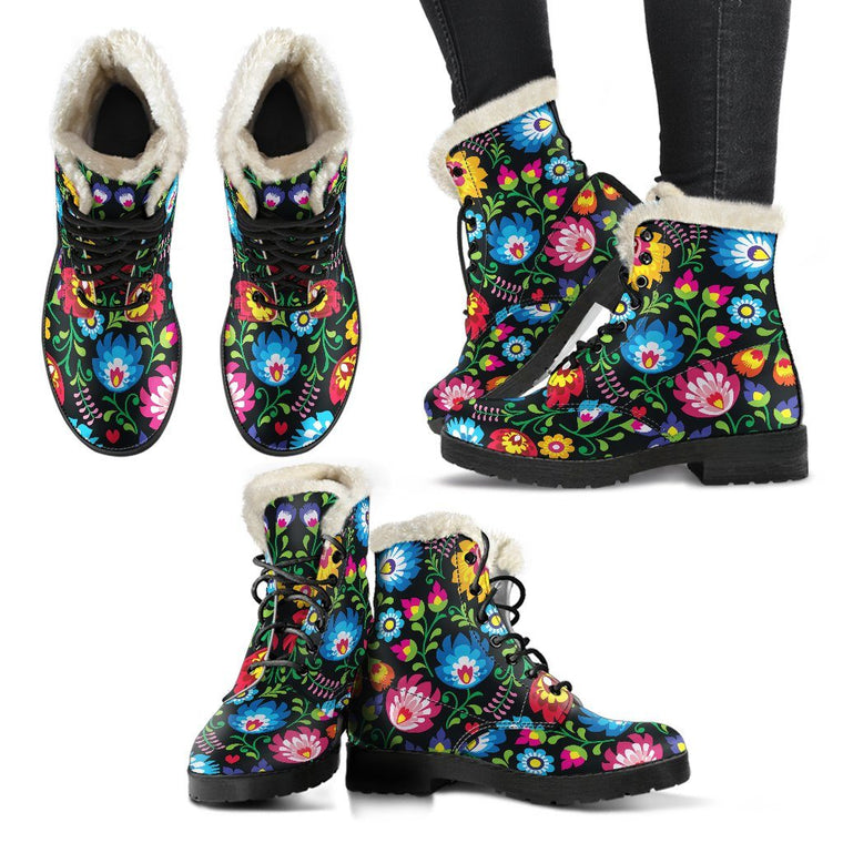 Floral Day Winter Boots