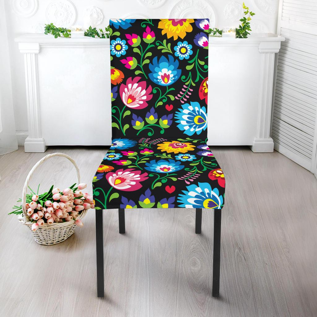 Floral Dining Chair Slipcover