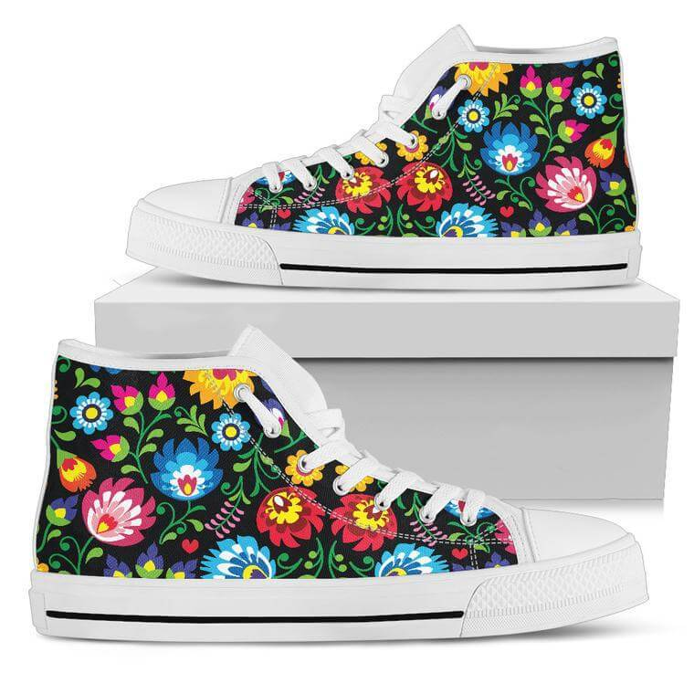 Floral High Top Shoes