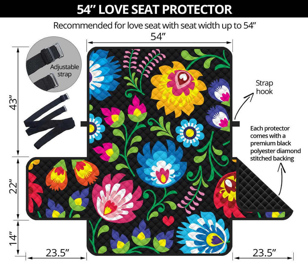 Floral Loveseat Sofa Cover