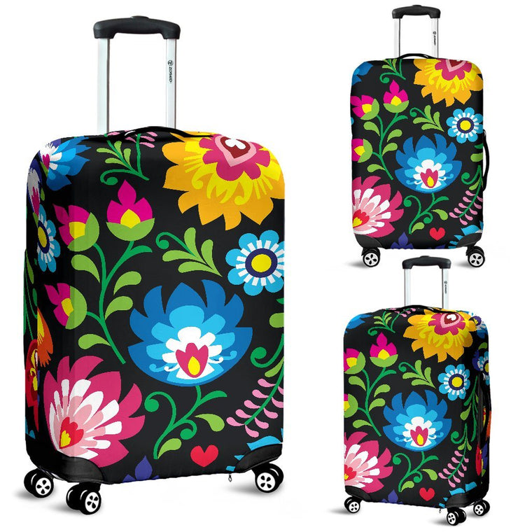 Floral Luggage Covers