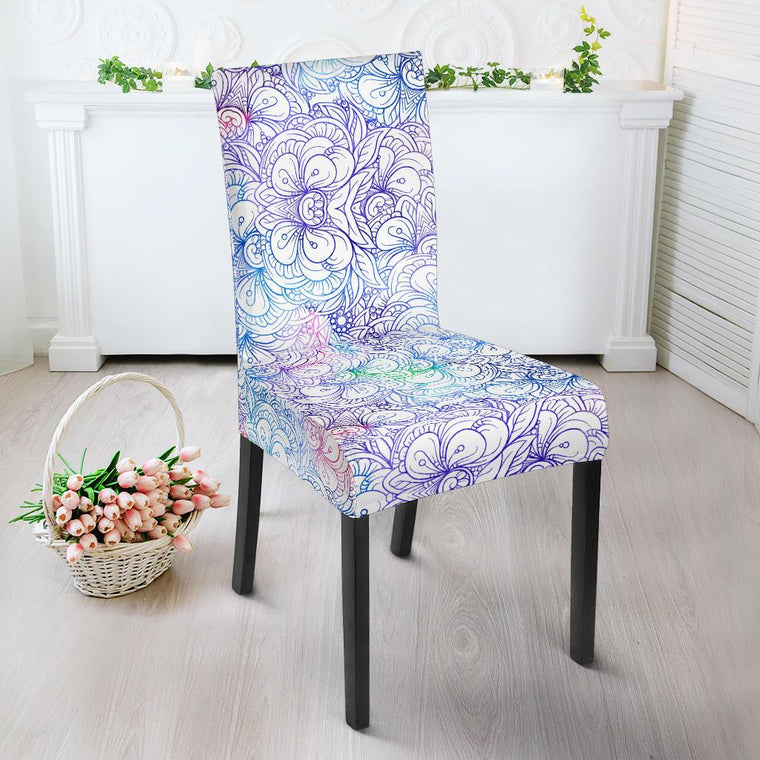 Floral Mandala Dining Chair Slipcover