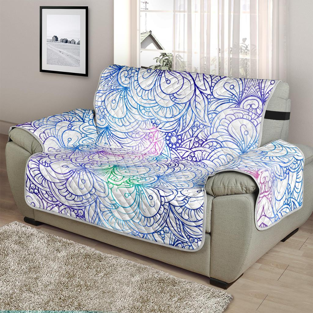 Flower Mandala Chair And A  Half Sofa Cover