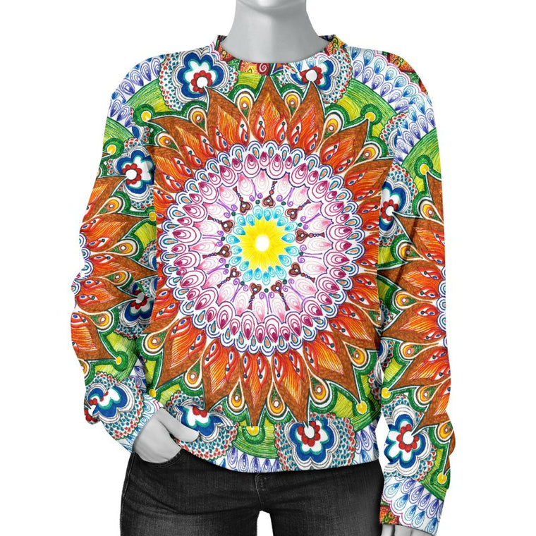 Flower Mandala Women's Sweater