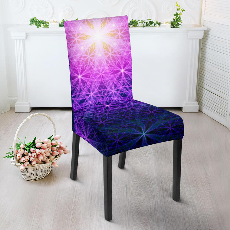 Flower Of Life Mandala Dining Chair Slipcover