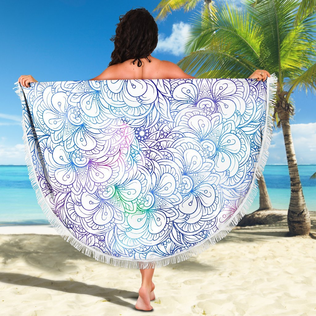Flowers Of Love Beach Blanket