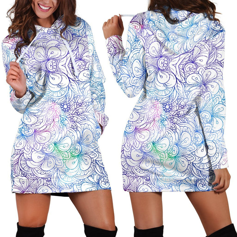 Flowers Of Love Hoodie Dress