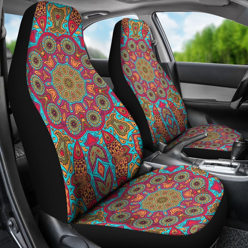 Flying Fish Mandala Car Seat Covers