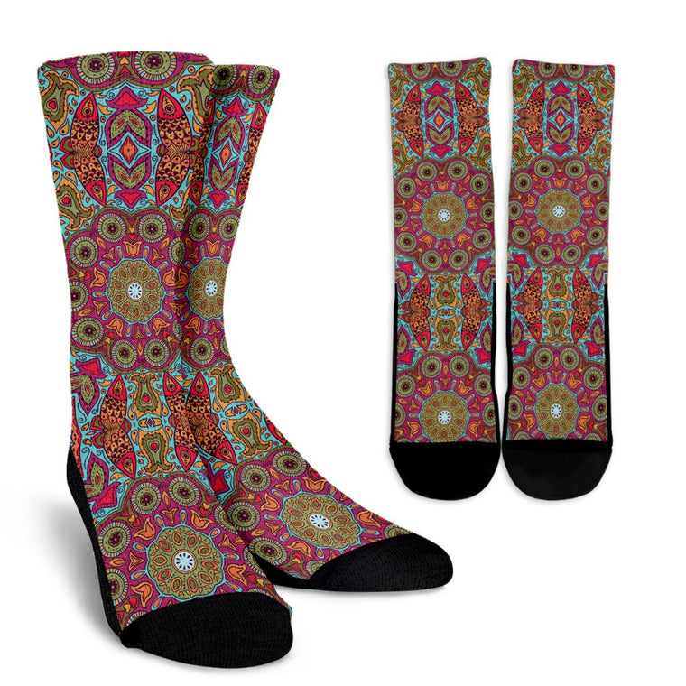 Flying Fish Mandala Socks