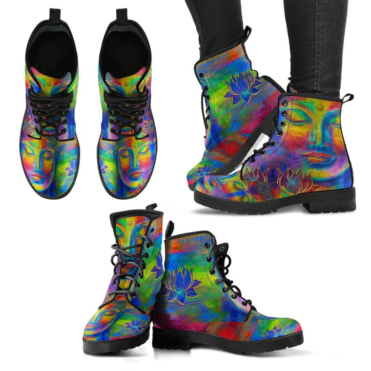 Free Your Mind Buddha Women's Boots