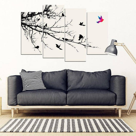 Freedom Bird 4 Piece Wall Art