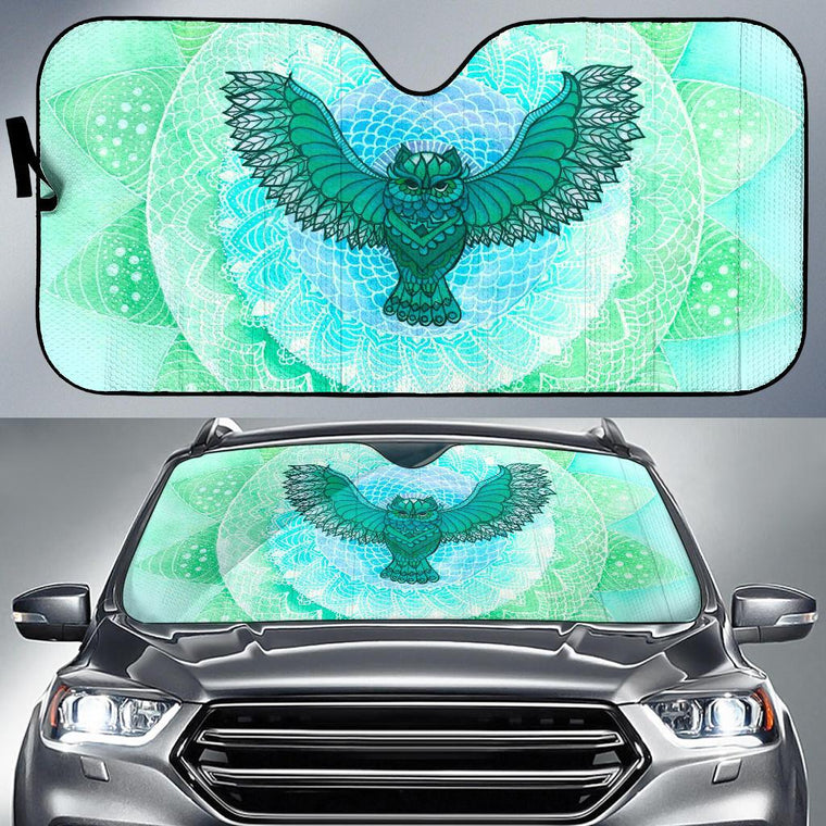 Green Owl Auto Sun Shade
