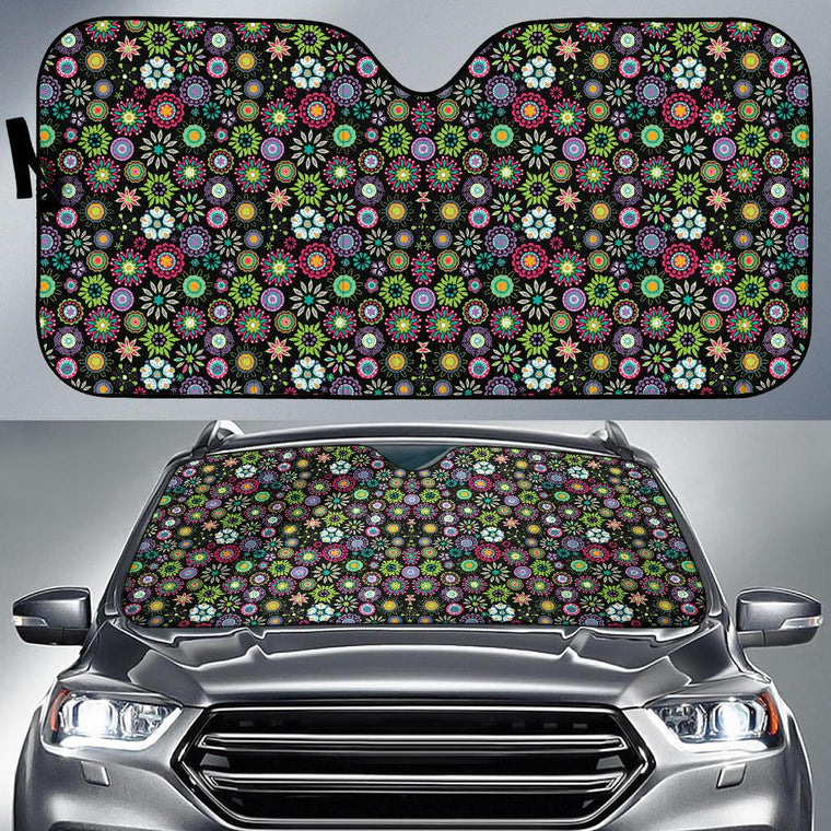 Happy Flowers Auto Sun Shade
