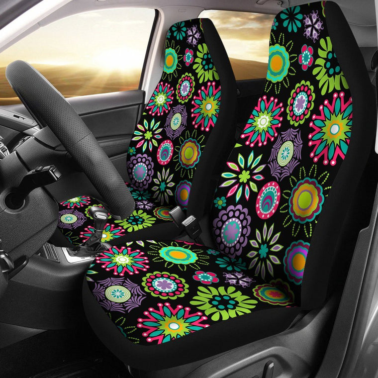 Happy Flowers Car Seat Covers