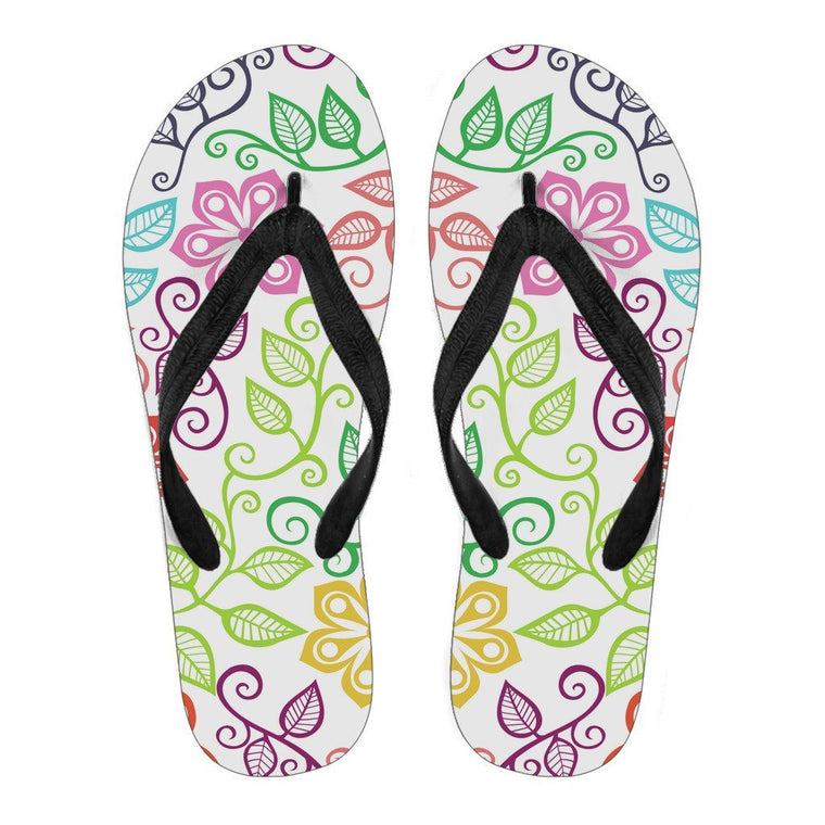 Happy Flowers Flip Flops