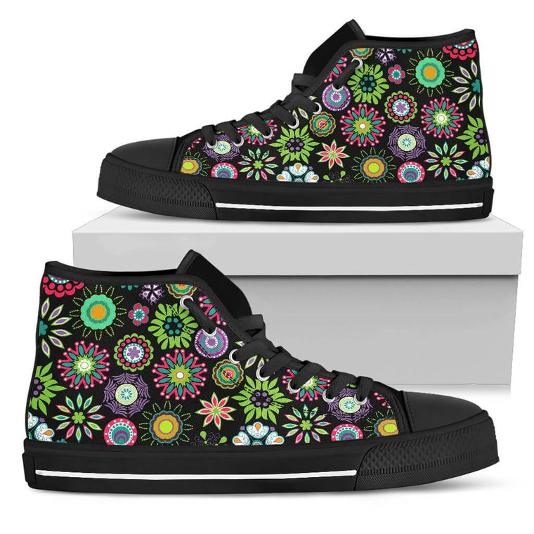 Happy Flowers High Top