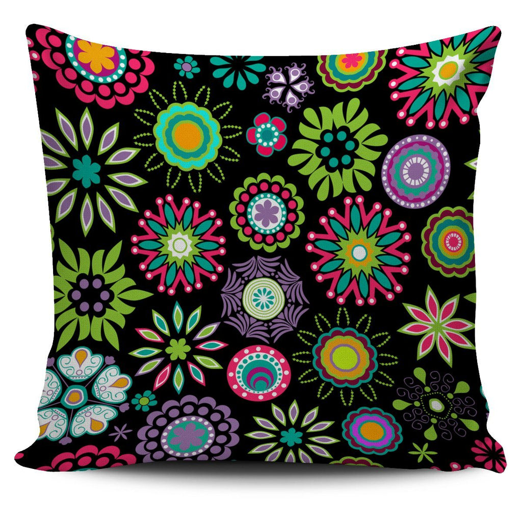 Happy Flowers Pillow Cover