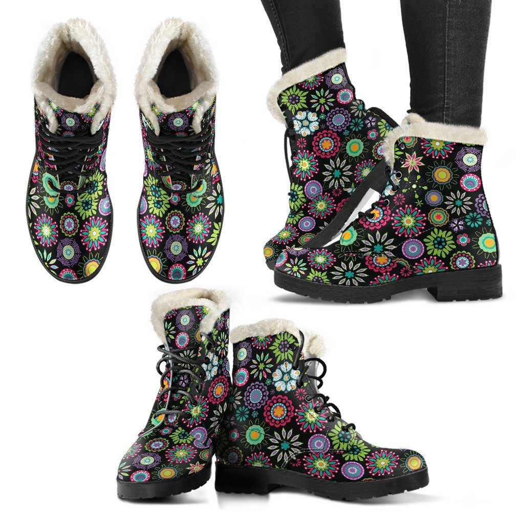 Happy Flowers Winter Boots
