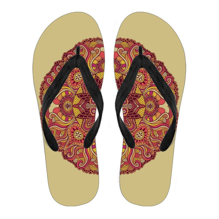 Happy Mandala Flip Flops