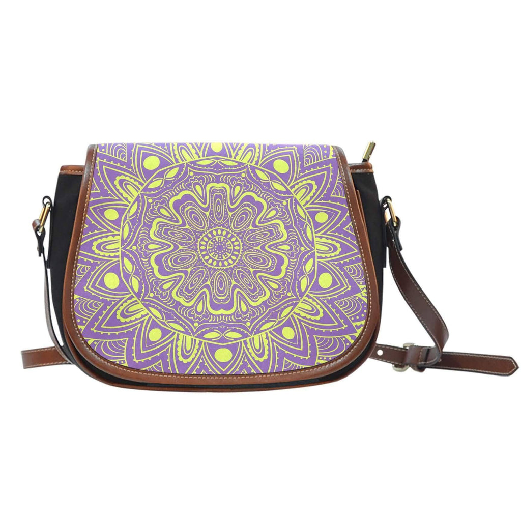 Happy Mandala Saddle Bag