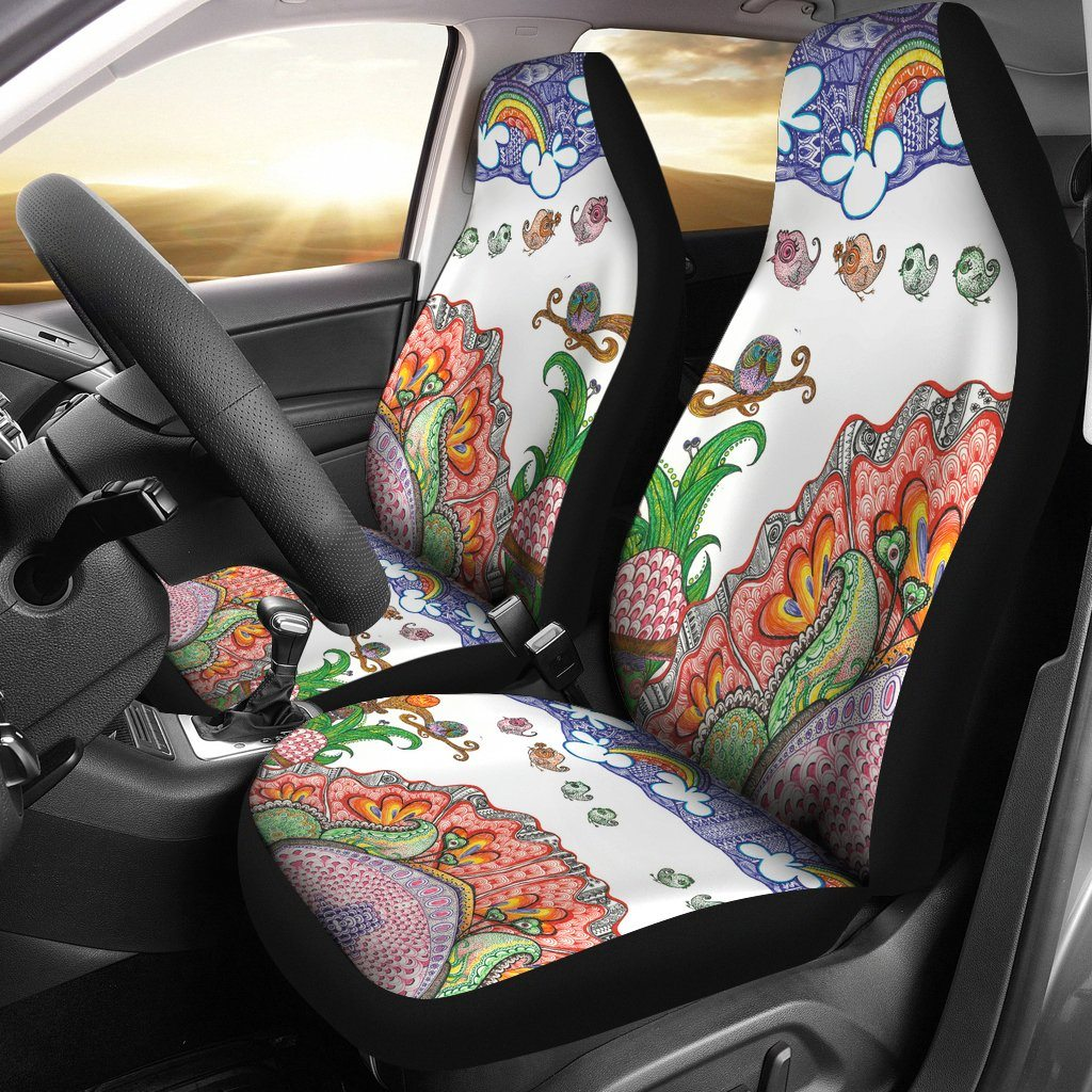Happy Owls Car Seat Covers