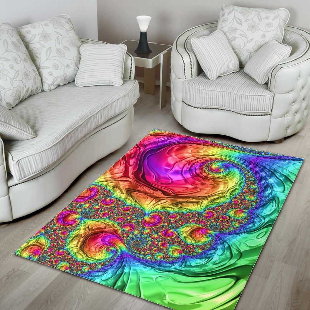 Happy Rainbow Area Rug