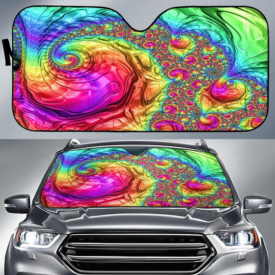 Happy Rainbow Auto Sun Shade