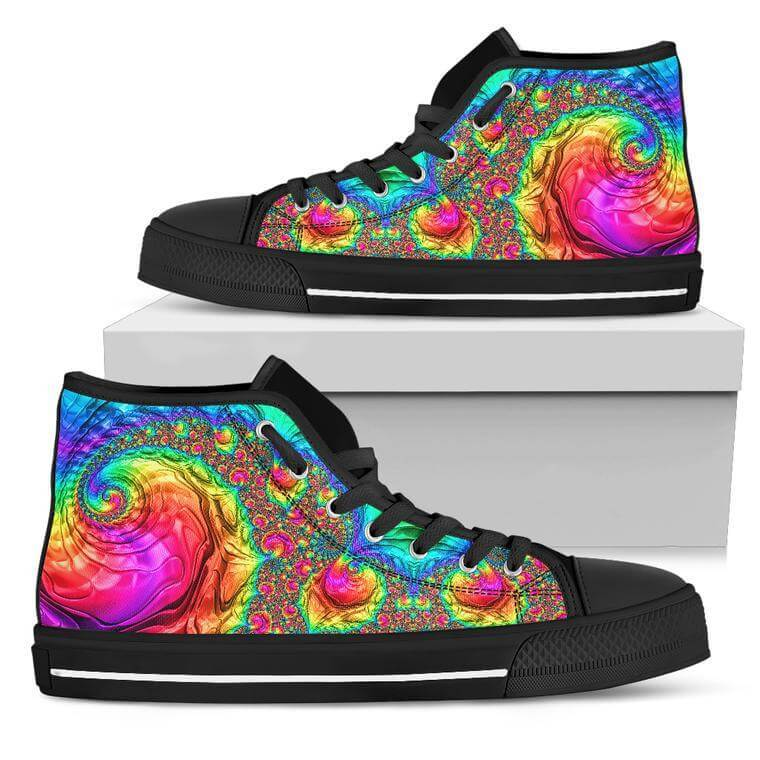 Happy Rainbow High Top