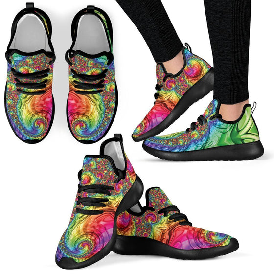 Happy Rainbow Mesh Knit Sneakers