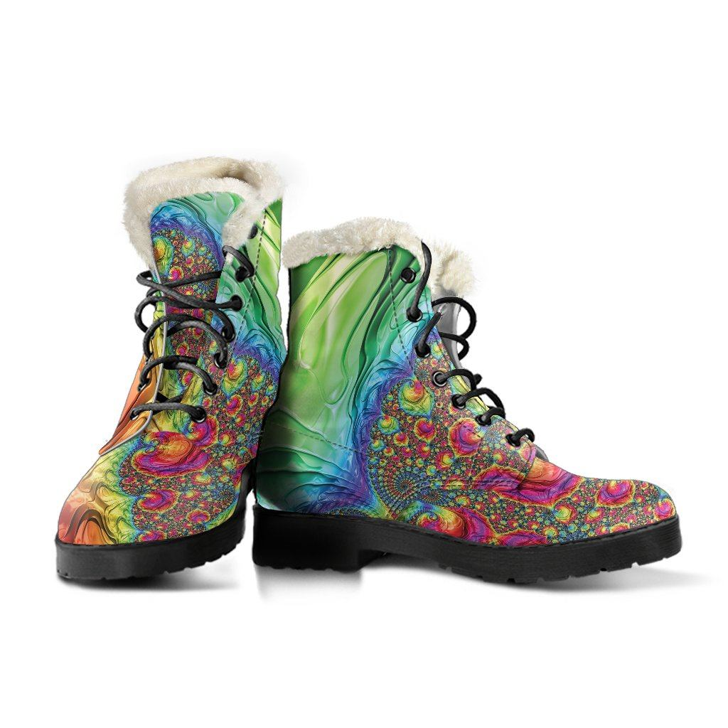 Happy Rainbow Winter Boots