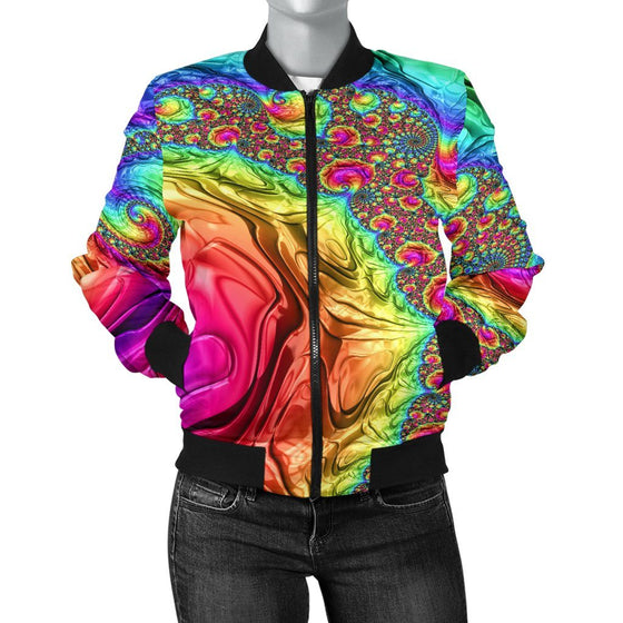 Happy Rainbow Women's Bomber Jacket