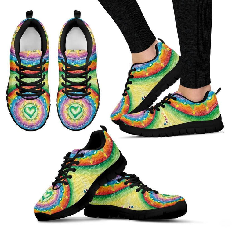 Heart Mandala Sneakers