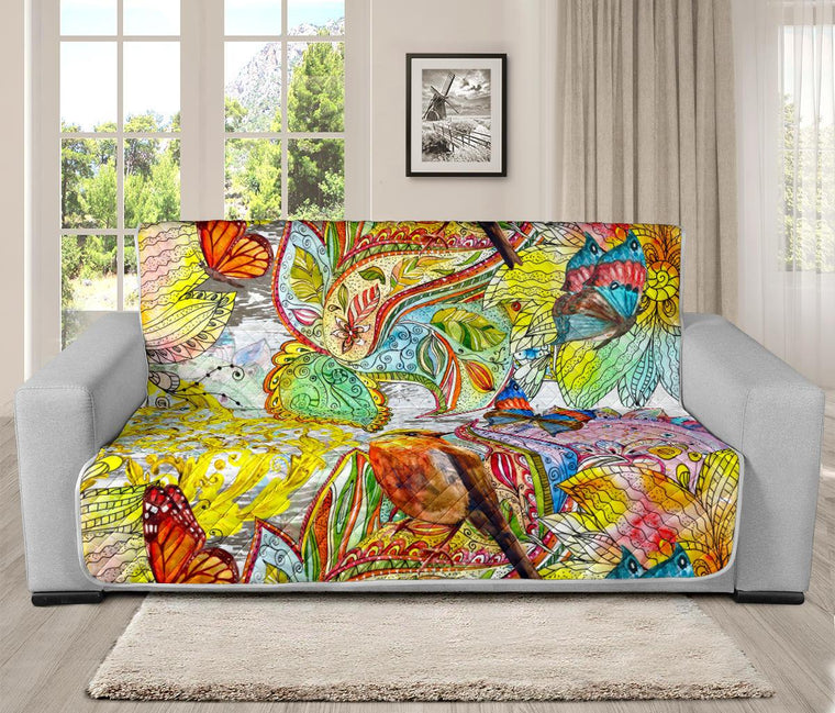 Home Decor - Colors Of Spring Futon Sofa Cover