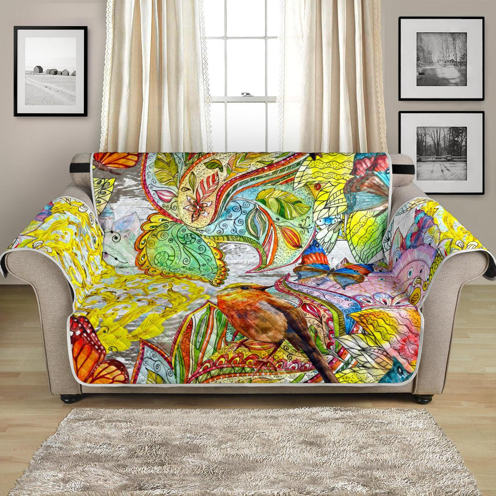 Home Decor - Colors Of Spring Loveseat Sofa Cover