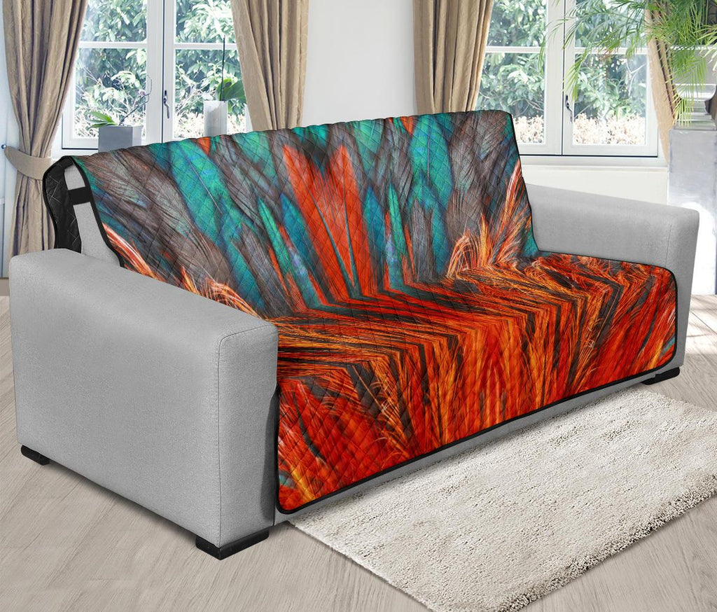 Home Decor - Flame Feather Futon Sofa Cover