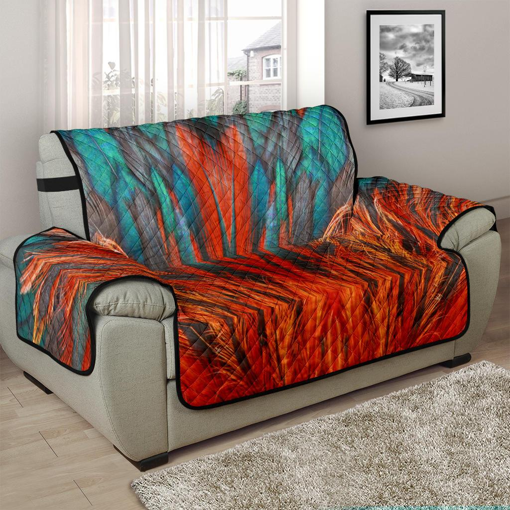 Home Decor - Flame Feathers Chair And A Half Covers